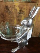 Pottery Barn Easter Farmer Bunny Rabbit LARGE Snack Bowl New Serving Sold Out