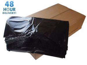 BLACK EXTRA HEAVY DUTY REFUSE BAGS SACKS BIN LINERS RUBBISH BAG 250G GWH3 90L