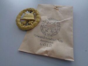 (A10-210) Verwundeten Abzeichen gold 57er Ausführung durchstochen WWI
