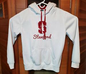 Stanford University Sweatshirt Hoodie Men's Women's Sz Medium White Embroidered