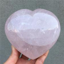 2.15LB Natural Rose quartz Heart Specimen Crystal Reiki Healing DC180-EF-1