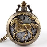 Orologio quarzo tasca taschino catena CAVALLO DESTRIERO diametro quadrante 4cm