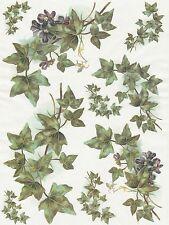 Papier de riz pour decoupage decopatch scrapbook craft feuille vintage ivy