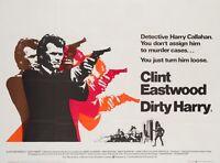 Original Dirty Harry, UK Quad, Film/Movie Poster 1971, Clint Eastwood