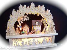 3d LED ARCOS DE LUCES arbotantes con casas + PEDESTAL sub-banco 44x40 cm 10025