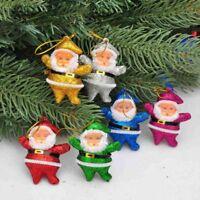 6PCs/set Lovely Mini Santa Claus Hanging Ornament Festival Christmas Tree Decor
