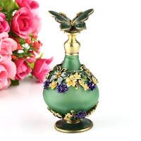23ml Empty Metal Glass Green Perfume Bottle Refillable Wedding Decor Lady Gift