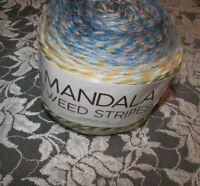NEW LION MANDALA TWEED Dragonfly Blue Cake Yarn 4 Medium 150 g 552220 0619