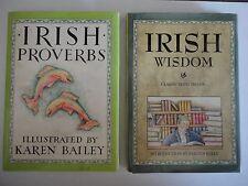 2 Little Books Irish Proverbs 1986 Wisdom 1993 Karen Bailey Fergus Kelly hardcov