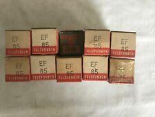 Telefunken EF85 x5. NOS Vacuum tubes. In original Packaging. Vintage.