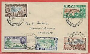 Southern Rhodesia 1953 sg 71-5 FDC Rhodes Centenary PM UMTALI 15 Apr