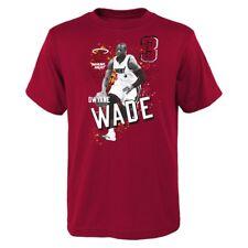 Dwyane Wade NBA Miami Heat Player Photo Red T-Shirt Boys Youth Size (XS-2XL)