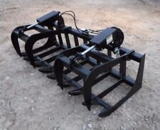 "Skid Steer Tractor Attachment 66"" Dual Cylinder Root Grapple Bucket - $99 Ship!"