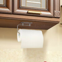 Rack Adhesive Punch Free Tissue Paper Towel Stainless Steel Holder Toilet