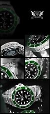 Solid Diver's Automatic Watch 30 Bar WD NEW Series XXL Large 45mm Black-Green