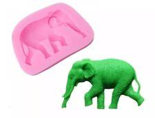 ELEPHANT SILICONE MOULD/ANIMAL MOLD-CHOCOLATE-CAKE DECORATION-ICING-CLAY/FIMO