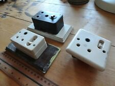 Vintage Mk 15 Amp Single Switched Sockets - 3 off