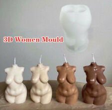 3D DIY Art Women Sexy Body Silicone Candle Mold Epoxy Resin Mould Soap Torso US