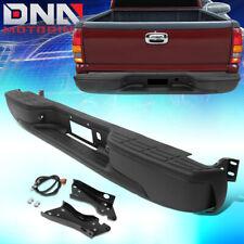 cciyu Rear Bumper Guard Bull Bar Relacement Fits for 1999-2007 Chevrolet Silverado 1999-2007 GMC Sierra