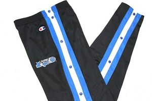CHAMPION 90'S VINTAGE ORLANDO MAGIC NBA POPPERS TRACKSUIT BOTTOMS,SIZE:LARGE