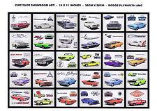 NOS Dodge Plymouth Mopar Showroom Art Picture Dealer Advertising 30 Prints Set