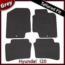 Hyundai i20 Mk1 2008-2014 2-eyelets Tailored Fitted Carpet Car Floor Mats GREY