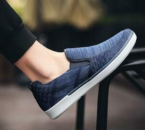 New Stylish Boys Board Shoes Slip On Loafers Casual Round Toe Breathable Shoes