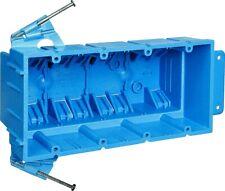 Thomas& Betts Bh464A New Work Super Hard Body Wiring Box, 64 Cuin Capacity, Blue