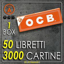 3000 CARTINE OCB ORANGE CORTE - 50 Libretti da 60 Fogli - ARANCIONI REGULAR