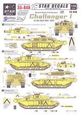 Star Decals 1/35 CHALLENGER I TANK Queens Royal Irish Hussars in the Gulf War