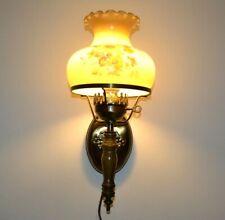 "Vintage Hurricane Lamp Wall Mount Sconce Lamp Light 17"" Tall Decor"