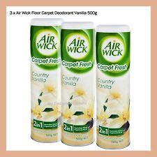 3x Air Wick Floor Carpet Deodorant Vanilla 500g Neutralises Odour Fragrances Air