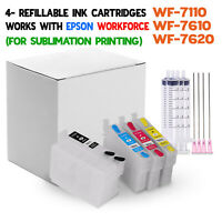 Refillable ink cartridges - Epson WorkForce WF-7210 WF-7710 WF-7720 printers