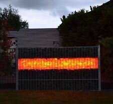 Gabionen LED Leuchte 1,40m mit Netzteil RGB mit Fernbed. Zaun Garten Deko  B6887
