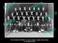 OLD 8x6 HISTORIC PHOTO OF THE NEW ZEALAND ALL BLACKS RUGBY UNION TEAM 1936