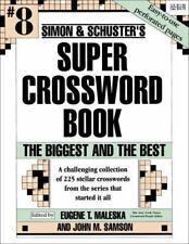 SUPER CROSSWORD BOOK Biggest Best No. 8 by Eugene T. Maleska (1994, Paperback)
