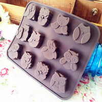 EG_ Silicone Owl Cake Decorating Mould Candy Cookies Chocolate Soap Baking Mold