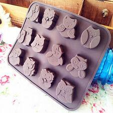 EG_SILICONE hibou Moule de décoration de gâteau bonbon cookies chocolat savon