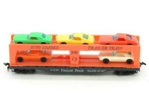 TYCO Trains Frisco 2530 Trailer Train Auto Loader with 5 Autos