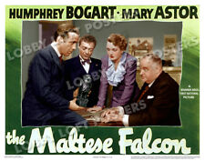 THE MALTESE FALCON LOBBY SCENE CARD # 9 POSTER 1941 HUMPHREY BOGART MARY ASTOR