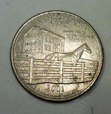2001 D Kentucky U.S. State Quarter 'Nice Details'.
