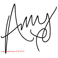 STICKER SIGNATURE amy winehouse  CASQUE RESERVOIR AUTO MOTO SCOOTER TUNING QUAD