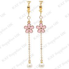 CLIP ON Earrings Gold Non Pierced Ear Studs Womens Jewellery Fashion Round #83