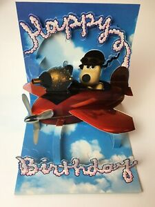 Pop Shots 3D Pop-Up Greeting Card Happy Birthday Wallace & Gromit