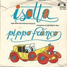 """PIPPO FRANCO """" ISOTTA / NINNA NONNA NONNA  """" 7"""" CINEVOX ITALY"""