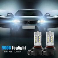 2x LED luz de niebla Auto lampara de cabeza 9006 HB4 Bombillas de conducción