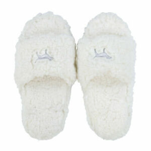 New VICTORIA'S SECRET PINK Sherpa Cozy Slippers Slides Small Great Gift