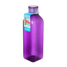 Sistema Hydrate 1L Square Drink Bottle, Purple Water Juice Work Travel School