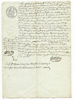1830 MANUSCRIPT document with very nice oncial signature Damaged authentic white