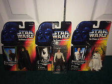 Han Solo Carbonite + Jedi Knight Luke Skywalker + Princess Leia Star Wars POTF